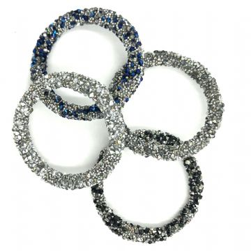 Ring shaped beaded crystal shape 28mm
